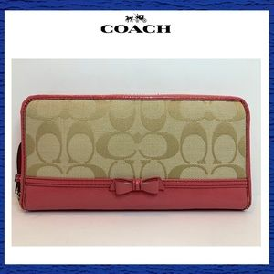 Coach Long Zip Around Wallet